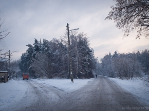 Junction under the snow